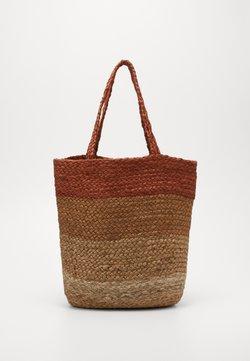ONLY - ONLMAJA STRIPED BAG - Shoppingväska - natural/striped natural