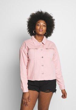 Missguided Plus - OVERSIZED JACKET - Veste en jean - blush
