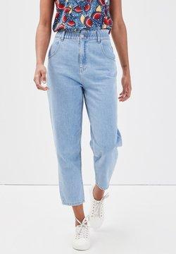 Cache Cache - 7/8 ELASTISCHE MOM JEANS - Straight leg jeans - denim bleach
