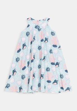 Walkiddy - DRESS FLARED SHELL PEARLS - Freizeitkleid - light blue/pink