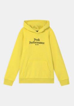 Peak Performance - JR ORIGINAL HOOD UNISEX - Sweatshirt - citrine