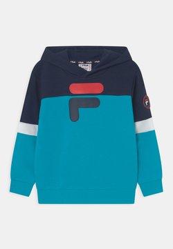 Fila - DANIEL HOODY - Jersey con capucha - black iris/scuba blue/bright white