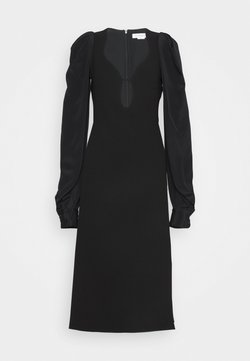 Victoria Beckham - LONG SLEEVE KEYHOLE MIDI - Vestito elegante - black