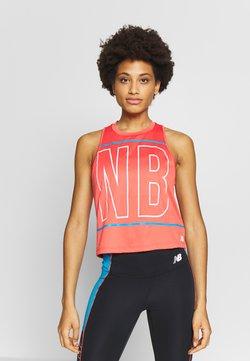 New Balance - PRINTED VELOCITY CROP TANK - Camiseta de deporte - toro red
