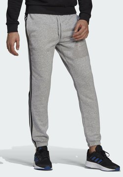 adidas Performance - ESSENTIALS FRENCH TERRY TAPERED 3-STREIFEN HOSE - Spodnie treningowe - grey