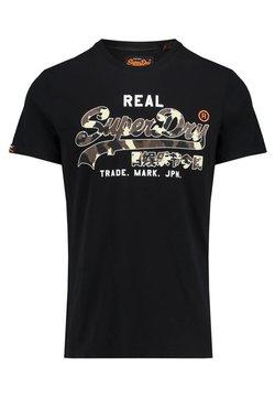 Superdry - VINTAGE - T-shirt imprimé - black