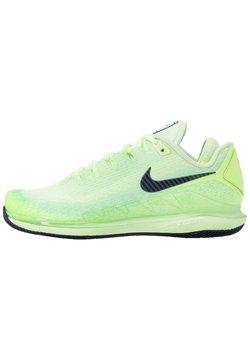Nike Performance - AIR ZOOM VAPOR X - Buty tenisowe uniwersalne - ghost green/blackened blue/barely volt