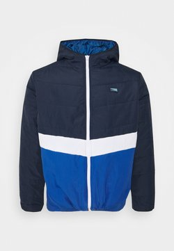 Jack & Jones - JCOMAGIC TWIST QUILTED JACKET HOOD - Veste légère - navy blazer