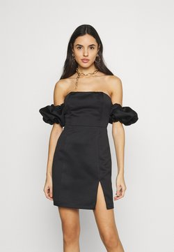 Topshop - PUFF SLEEVE BARDOT DRESS - Sukienka etui - black