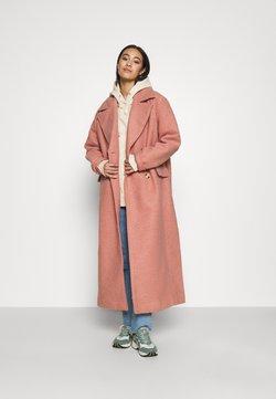 NA-KD - MAXI COAT - Manteau classique - dusty pink