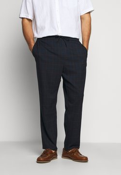 Only & Sons - ONSLINUS LONG CHECK - Stoffhose - dark navy