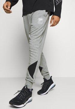 Puma - REBEL PANTS BLOCK - Verryttelyhousut - medium gray heather