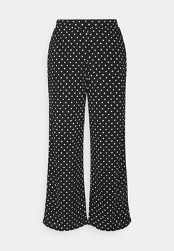 ONLY Tall - ONLPELLA PANTS - Trousers - black/cloud dancer