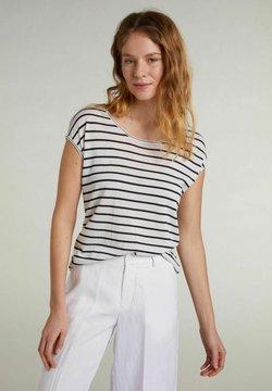 Oui - T-Shirt print - white blue
