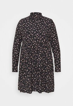 Simply Be - SOFT TOUCH HIGHNECK SMOCK DRESS - Freizeitkleid - black