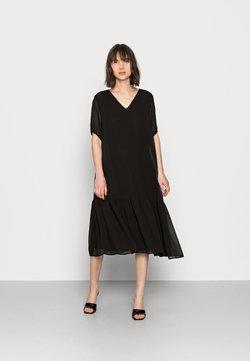 Selected Femme - SLFSINA MIDI DRESS - Day dress - black
