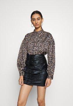 Cras - LANICRAS - Button-down blouse - brown leo