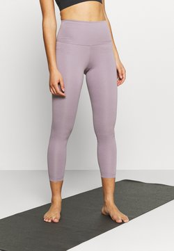 Nike Performance - THE YOGA 7/8 - Tights - purple smoke/heather/violet dust