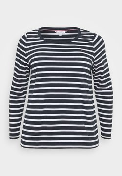 Tommy Hilfiger Curve - CANDICE - Long sleeved top - white/desert sky