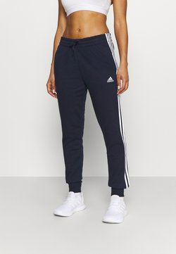 adidas Performance - ESSENTIALS FRENCH TERRY STRIPES PANTS - Jogginghose - legend ink/white
