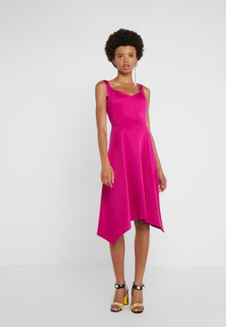 DKNY - SWEETHEART NECK MIDI - Cocktailjurk - berry
