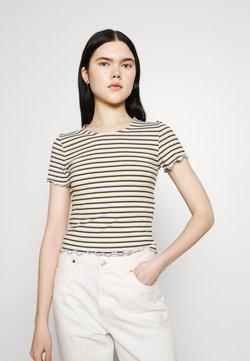 ONLY - ONLEMMA STRIPE - T-Shirt print - cloud dancer/blue/yellow stripes