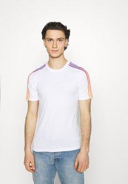 adidas Originals - STRIPE UNISEX - T-Shirt print - white/multicolor