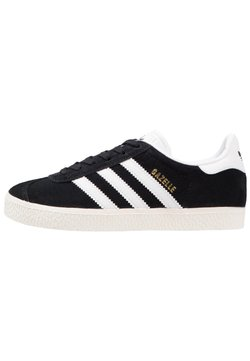 adidas Originals - GAZELLE - Trainers - core black/white/gold metallic