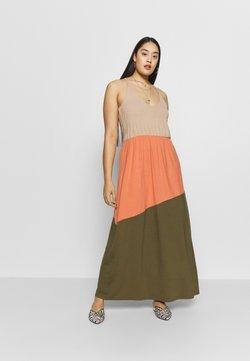 Vero Moda Curve - VMIKA DRESS - Maxikleid - ivy green/carnelian