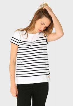 Armor lux - ETEL - T-Shirt print - blanc rich navy