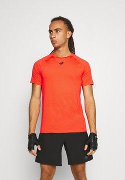 4F - Men's training T-shirt - T-Shirt print - orange