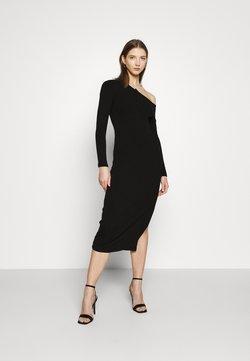 Forever New - TIPPED MIDI DRESS - Vestido de punto - black