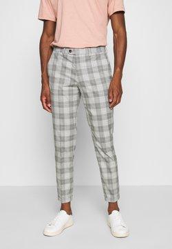 Jack & Jones PREMIUM - JPRCANE CHECK  - Suit trousers - light grey melange