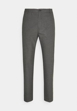 Calvin Klein Tailored - CHECK STRETCH PANTS - Stoffhose - grey