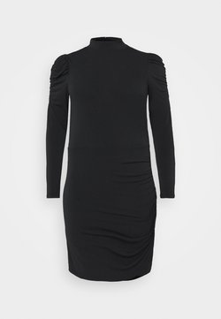 Vero Moda Curve - VMJAYDA SHORT DRESS BOO - Vestido de tubo - black