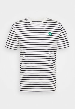 Wood Wood - ACE - T-Shirt print - offwhite/navy