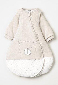 Jacky Baby - MIT ABNEHMBAREN ÄRMELN HELLO WORLD - Sovpåse - beige melange
