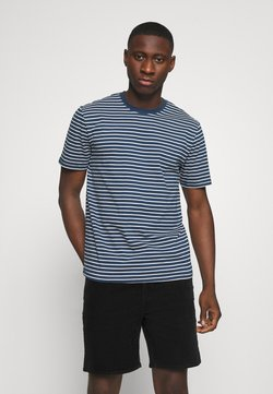 Only & Sons - ONSMICK LIFE STRIPE TEE - Print T-shirt - dress blues