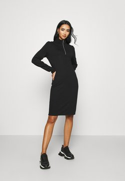 KENDALL + KYLIE - ZIP JUMPER DRESS - Jerseyjurk - black