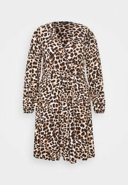 Evans - FRILL DRESS - Jerseykleid - beige/black