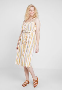 New Look Curves - STRAPPY DRESS - Paitamekko - offwhite