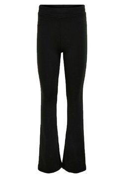 Kids ONLY - KONFEVER FLARED PANT  - Spodnie materiałowe - black