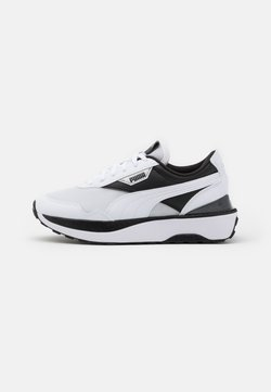 Puma - CRUISE RIDER - Matalavartiset tennarit - white/black