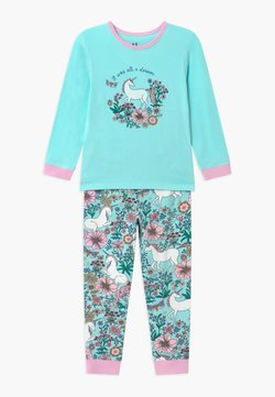 Cotton On - FLORENCE LONG SLEEVE  - Nachtwäsche Set - turquoise