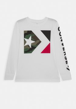 Converse - WORDMARK CAMO TEE - T-shirt à manches longues - white