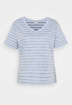edc by Esprit - STRIPE - T-Shirt print - light blue