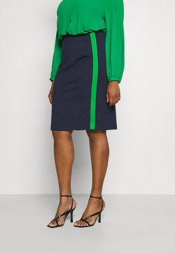 MY TRUE ME TOM TAILOR - PANEL PENCIL SKIRT - Bleistiftrock - real navy blue