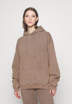 BDG Urban Outfitters - SKATE HOODIE - Bluza z kapturem - chocolate