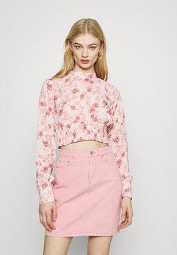NA-KD - SMOCKED WAIST BLOUSE - Bluse - rose