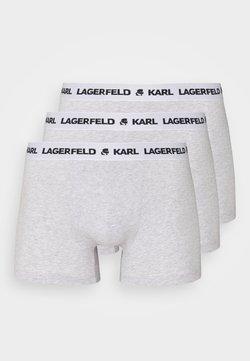 KARL LAGERFELD - LOGO TRUNK 3 PACK - Shorty - grey melange